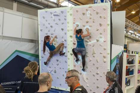 Gamified AR Climbing Walls - 'Augmented Climbing Wall' Lets Climbers Use Their Limbs as Pong Paddles