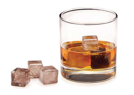 Natural Quartz Ice Cubes - These Smokey Quartz Whiskey Stones Look like Real Ice with Smoke Within