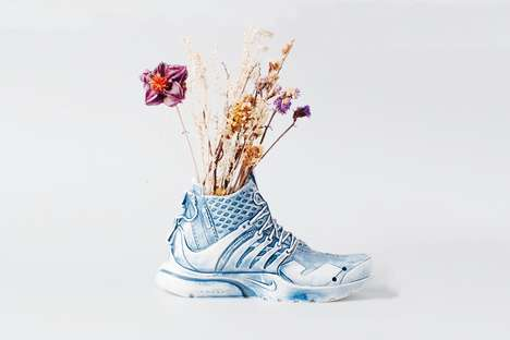 Ceramic Sneaker Collectibles - ACRONYM & Nike's Design Was Transformed into a Ceramic Porcelain Vase