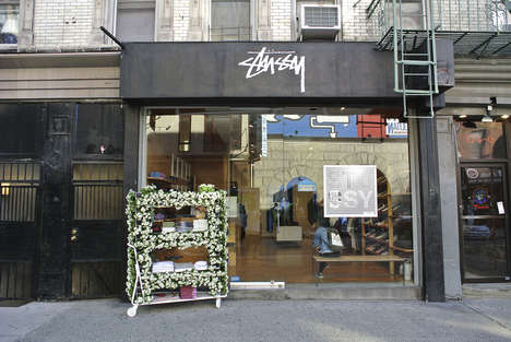 Flowery Streetwear Storefronts - Stussy New York Promoted Its New Line with a Flower Installation
