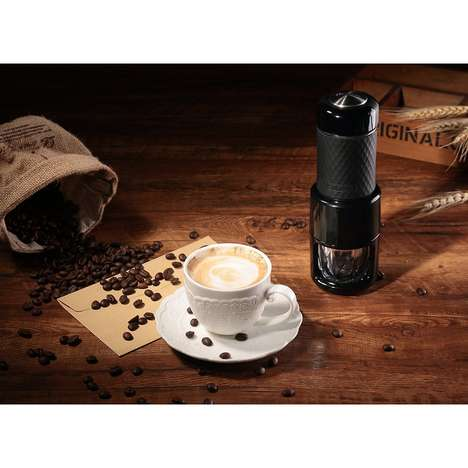 Portable Espresso Shot Makers - The 'STARESSO' Manual Coffee Maker Brews Hot or Cold Coffee