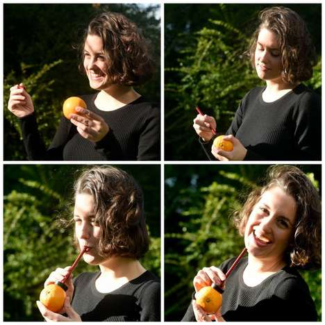 Reusable Fruit Straws - The 'Mr. Orange' Drink Straws Let You Sip Straight from the Source