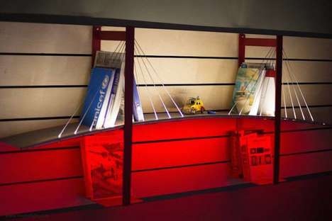 Iconic Bridge Bookshelves - Roumelight's Design Brings San Francisco's Golden Gate Bridge Indoors
