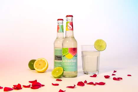 Rosewater-Based Soft Drinks - These Drinks are Inspired by Historical Sharbat Beverages