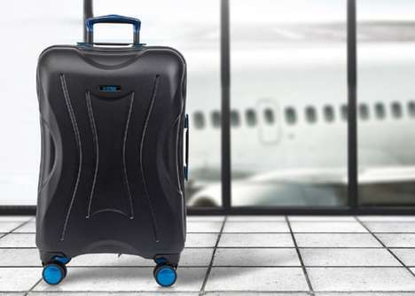 Fingerprint-Scanning Smart Luggage - The 'E-CASE' Luggage Case Offers Real-Time GPS Tracking