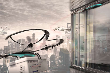 Skyscraper Delivery Drones - This Drone Makes it Easier to Receive Packages in High-Rise Buildings