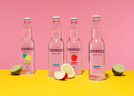 Unsweetened Sparkling Waters - These Refreshing Beverages Come in a Variety of Flavors