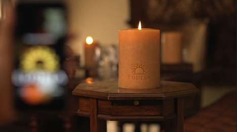 Blazing Smart Candles - LuDela is a Real Flame Candle Controlled Through a Smartphone App