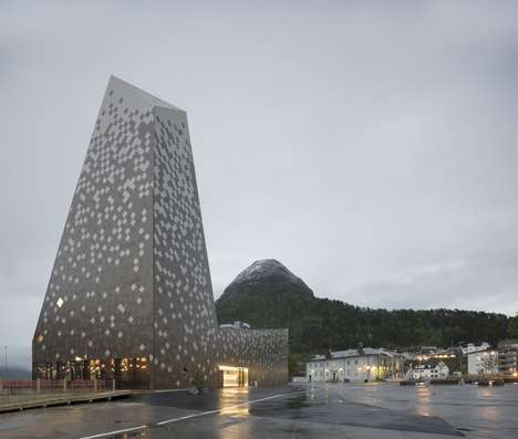 Precipitous Mountaineering Buildings - The 'Norwegian Mountaineering Center' is a Haven for Climbers