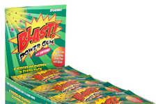 Flavorful Supplement Gums - The Blast Power Gum Candy Provides a Calorie-Free Boost