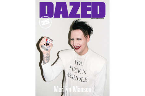 Celebratory Pop Figure Covers - Dazed Magazine's Fall Issue Features Marilyn Manson and Kate Moss