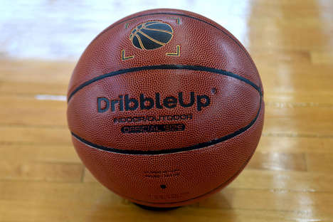 Dribble-Dissecting Basketballs - The 'DribbleUp' App Comes with a Regulation NBA Basketball