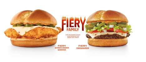 Ultra-Spicy Burger Menus - Sonic's New Fiery Family Menu Delivers a Powerful Dose of Heat