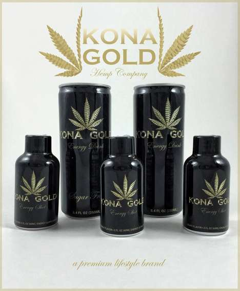 Hemp-Based Energy Beverages - The Kona Gold Hemp Energy Drink is Loaded With Organic Hemp Protein