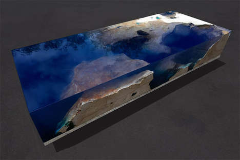Interactive Nature-Themed Tables - The 'Starry Sea' Table Was Inspired by the Caribbean Sea
