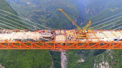 Record-Breaking Bridges - The Beipanjiang Bridge Duge Will Soon Be the World's Highest Bridge