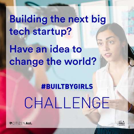 Female-Focused Tech Competitions - The 'Built By Girls' Challenge Helps Teens Explore Their Ideas