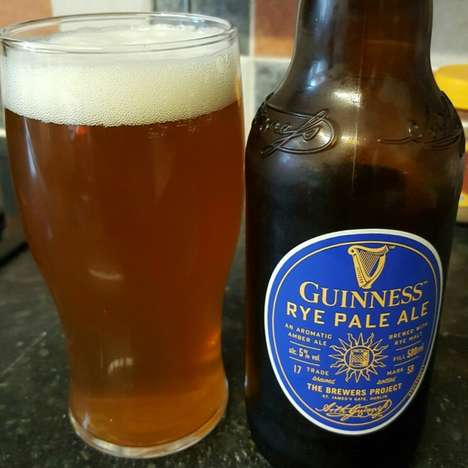 Peppery Pale Ales - The Guinness Rye Pale Ale Offers a Beautifully Balanced Flavor Profile