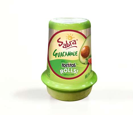 Portable Guacamole Packaging - Sabra is Now Offering Tostitos Chips and Guacamole Pairings