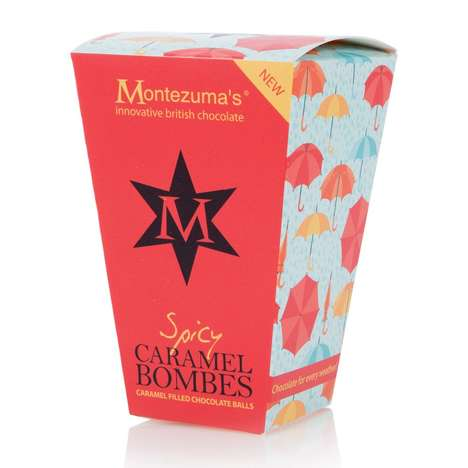 Spicy Caramel Chocolates - Montezuma's Chocolate Balls are Enriched with Chilli and Peppercorns