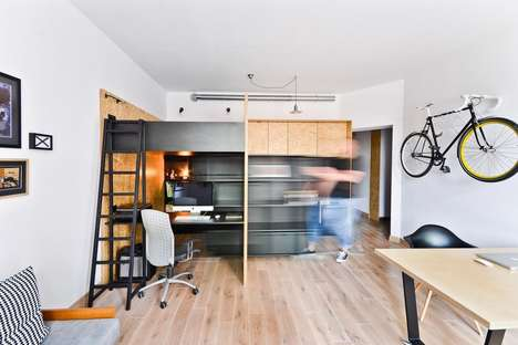 Hybrid Office Apartments - The Brandburg Home & Studio by Modelina Architecture is Efficient