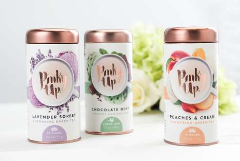 Delicate Canned Tea Branding - These Tinned Teas Come in a Variety of Vibrant Flavors