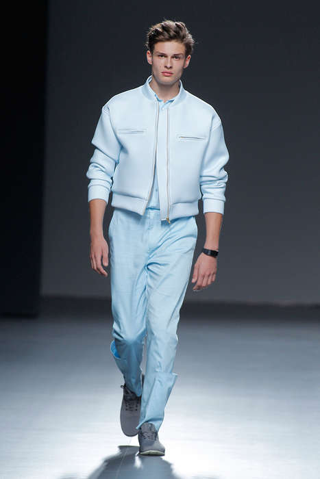 Futuristic Pastel Menswear - Xevi Fernández Debuted Fresh Looks at Mercedes-Benz Fashion Week Madrid