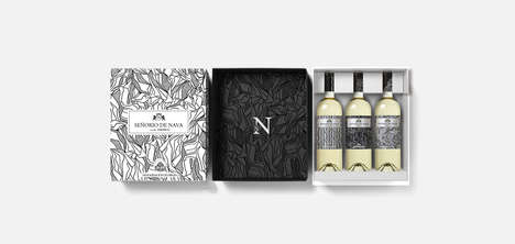 Three-Piece Wine Gift Boxes - This White Wine Collection is from a Prestigious Winery in Spain