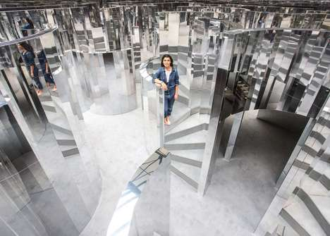 Perfumed Mirror Mazes - This Maze Created by Es Devlin Functions as an Interactive Art Piece