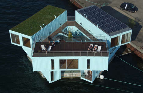 Floating Student Housing - Urban Rigger's Affordable Dorms are Afloat in Copenhagen's Harbor