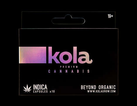 Boxed Cannabis Capsules - These Boxes Were Designed to Look More Modern Than Natural