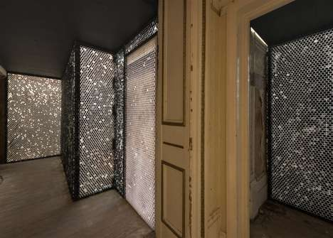 Bubble-Wrapped Hotel Corridors - Michael Iveson's 'Corridor' Lines One of the Averard Hotel's Halls