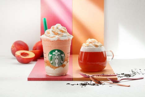 Nectarine Peach Frappuccinos - Starbucks Japan is Introducing Two Peach-Flavored Drinks