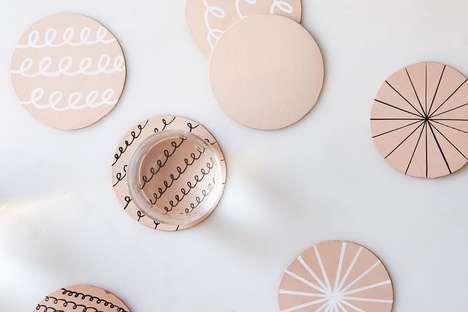 DIY Leather Coasters - These Customized Coasters Can Easily Be Made at Home