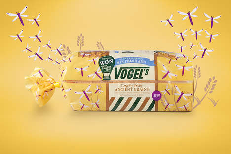 Nature-Themed Bread Packaging - Vogel's Bread is Offering Promotional Packs to Promote Its Ethos