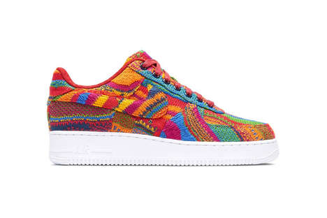 Textured Sweater Sneakers - These Custom Nikes Were Inspired by Coogi Sweaters from the 1970s