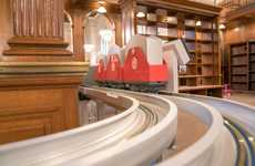 Library-Traversing Book Trains