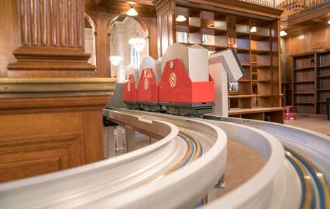 Library-Traversing Book Trains - The New York Public Library Renovation Will Have a Book Conveyor