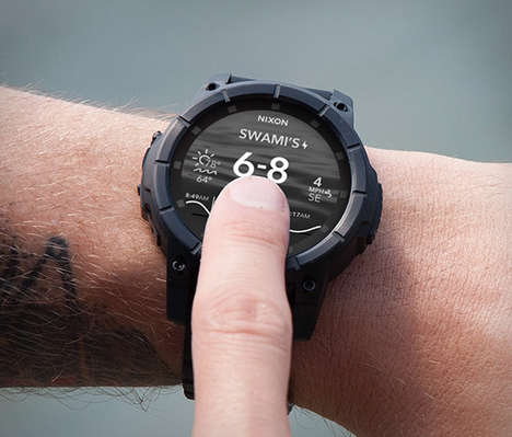Active Adventure Smartwatches - Nixon Mission Watches Provide a High Tech Device That Is Waterproof