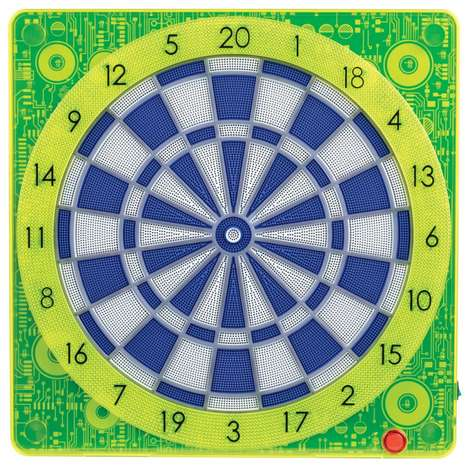 Connected Darts Games - The Guz2 Electronic Dartboard Can Sync to Mobile Devices
