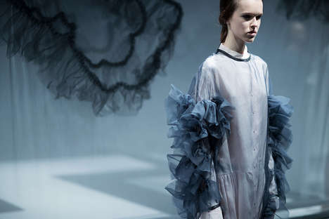 Fervently Frilled Fashion - The Embellished Designs from Katie Roberts-Wood Stunned on the Runway