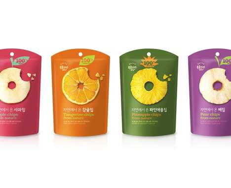 Spherical Fruit Snack Branding