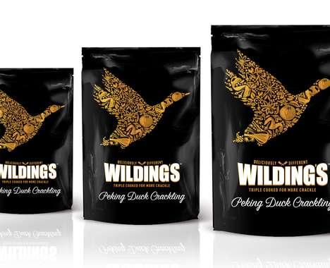 Upscale Fowl Snack Branding