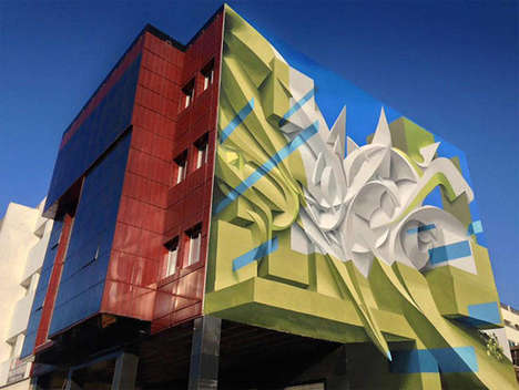 Abstract Multidimensional Murals - These Stunning Murals in Italy Were Done by Manuel Di Rita