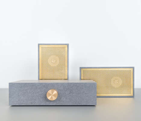Fibrous Stereo Designs - This Music Player Features Unique Tactile Contrasts