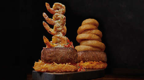 Sky-High Restaurant Dishes - Outback Steakhouse's Menu Features Three New Towering Dishes