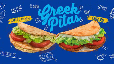 Fast Food Pitas - McDonald's Malta is Now Serving Greek Pita Sandwiches