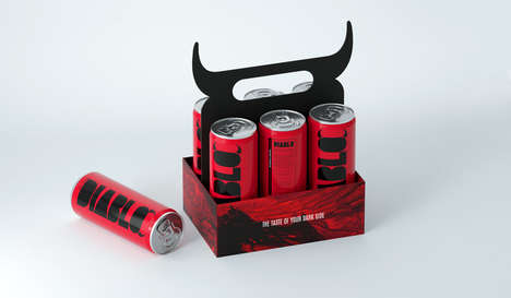 Devilish Energy Drinks - Diablo is an Alcoholic Energy Drink with Bold Packaging
