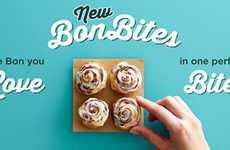 Bite-Size Cinnamon Rolls - Cinnabon's New Bon Bites Provide a New Way to Indulge