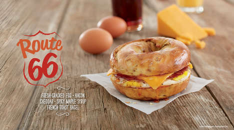 Highway-Inspired Fall Menus - Bruegger's Bagels' 2016 Fall Menu is Inspired by Route 66